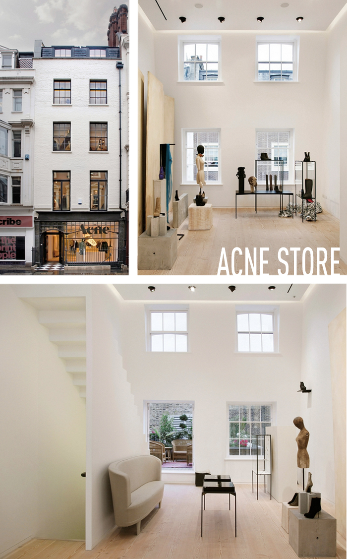 The Acne Store on Dover street on Baroness O.